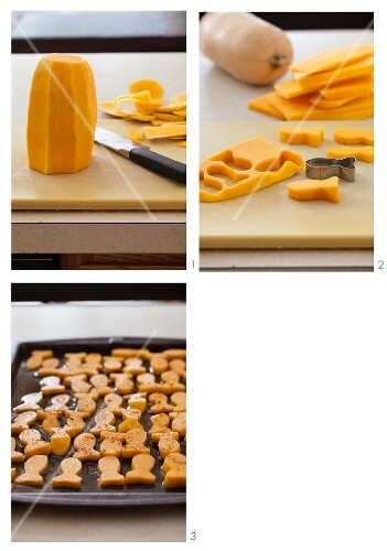 Making Baked Sqaush Goldfish Chips