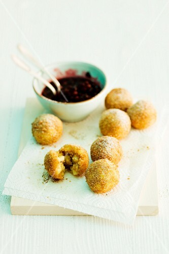 Deep-fried apple balls
