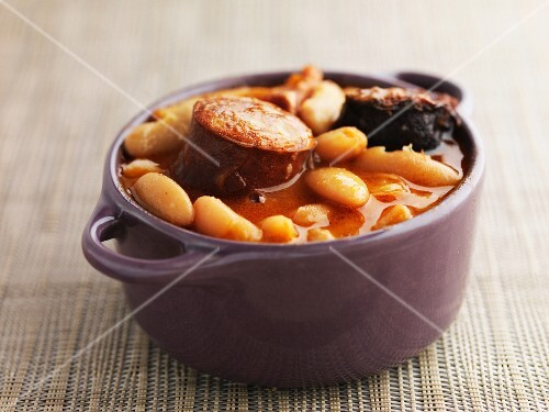 Bean stew from Asturias (Spain)