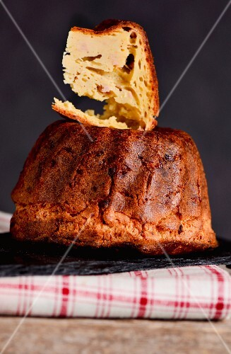 Savoury Bundt cake with goose liver from Alsace