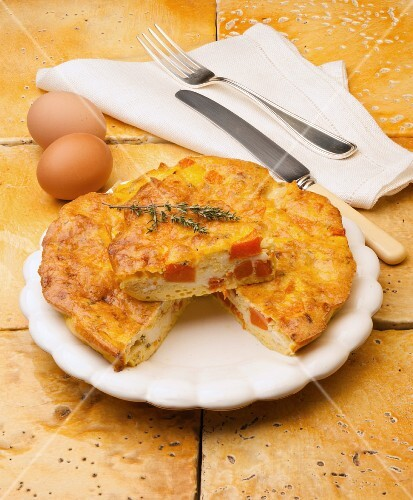 baked omelette with pumpkin