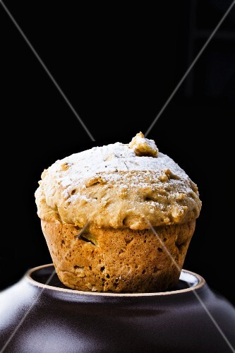 A pear and vanilla muffin
