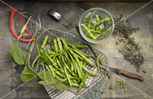 Bush beans and thyme