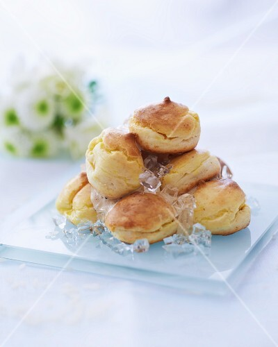Profiteroles with goose liver pate