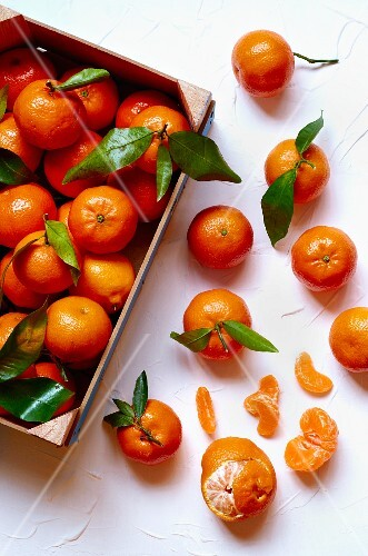 A crate of clementines