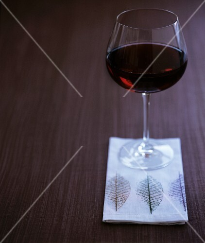A glass of red zinfandel