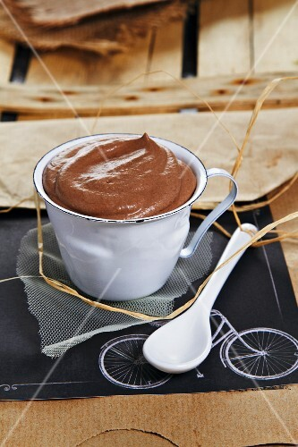 A cup of chocolate cream
