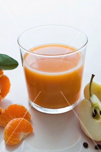 A carrot, mandarin and apple smoothie