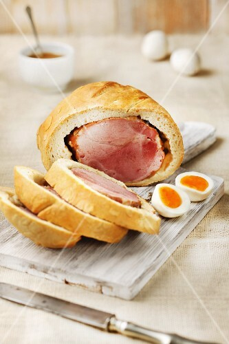 Easter ham wrapped in bread (Hungary)