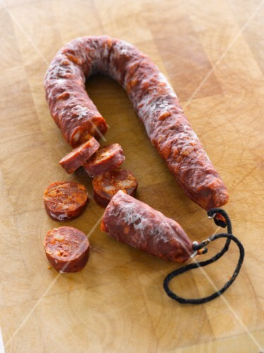 Chorizo, sliced
