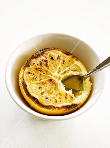 Grilled grapefruit in a bowl