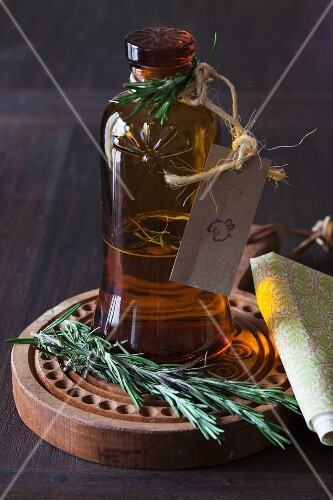 A bottle of butter-rosemary extract
