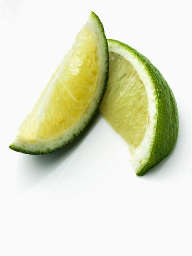 Two lime wedges