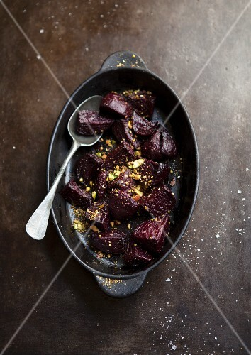 Roasted beetroot with dukkah