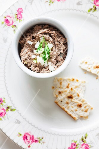 Liver pate with onions