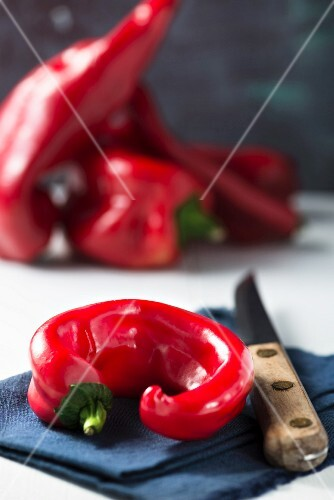 Red peppers and chilli peppers