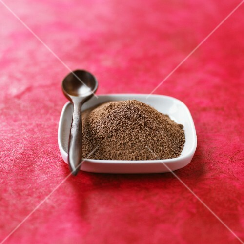 A pile of chocolate powder