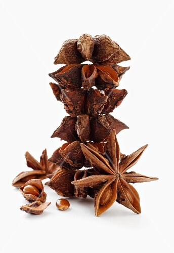 A stack of star anise
