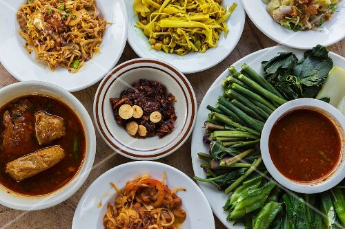 Typical dishes from Myanmar