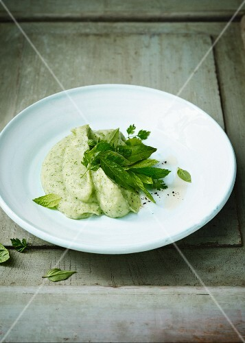 Parsnip puree with parsley