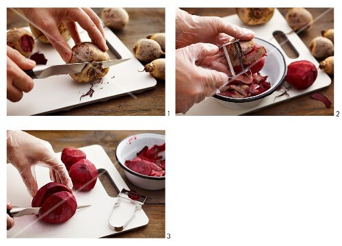 Beetroot being prepared