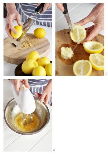 Lemon parfait being made