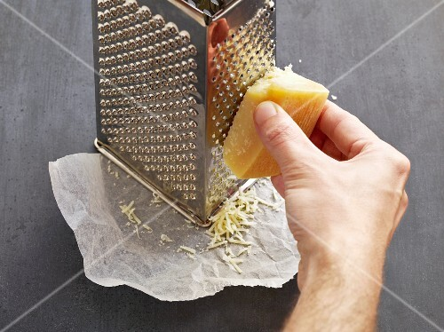 Grating Parmesan