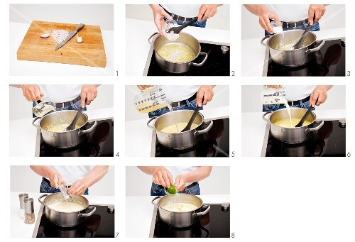 A basic step-by-step for creamy soup