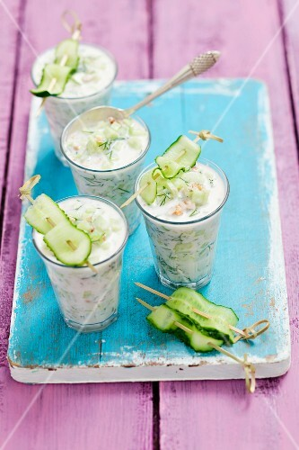 Tarator – cold cucumber soup with walnuts and buttermilk