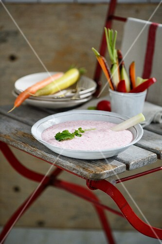 A radish dip with feta cheese