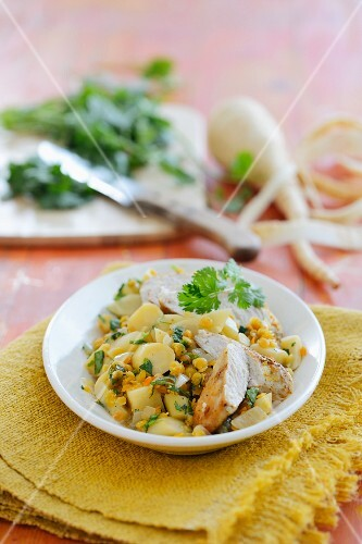 Parsnip curry with chicken breast