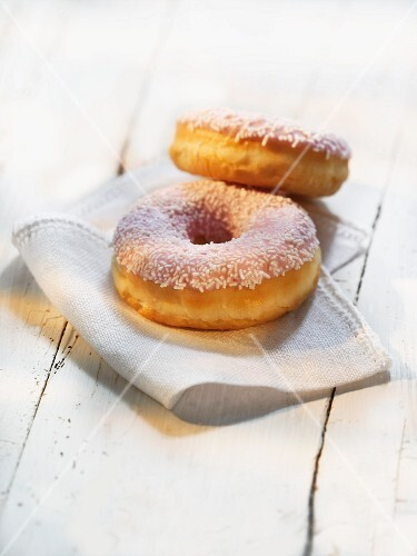 Doughnuts with sugar sprinkles