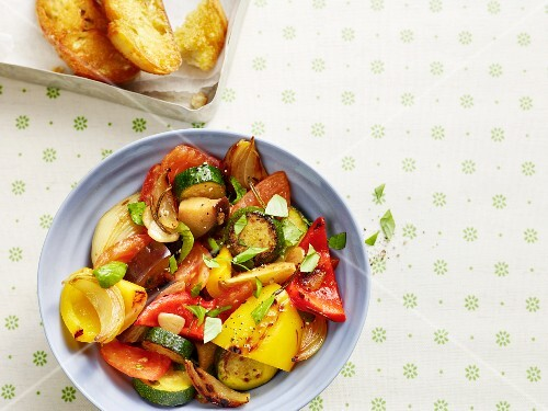 Marinated ratatouille vegetables