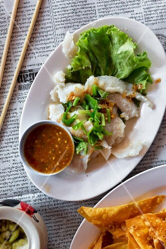 Steamed fish with a spicy dip (Thailand)