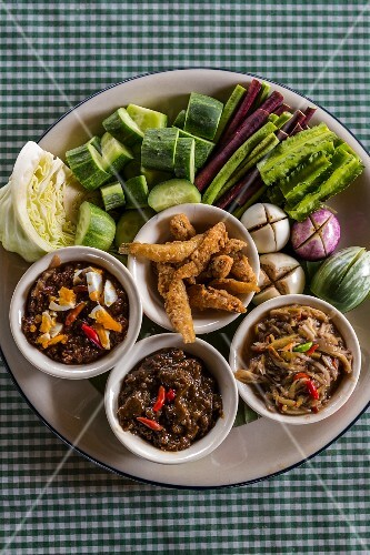 Nam prik (spicy sauces with vegetables, Thailand)