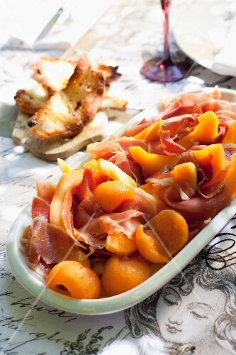 Sherry melon with Parma ham