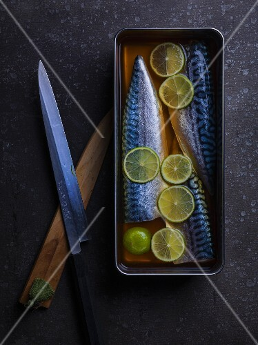 Pickled mackerel