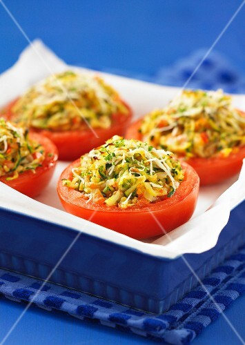 Tomatoes stuffed with vegetables