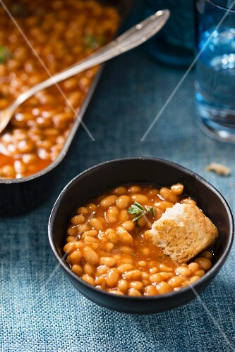 Baked beans with toast