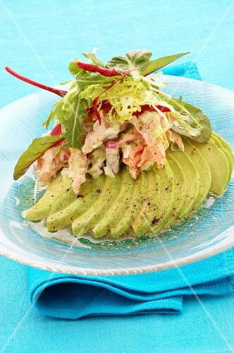 Avocado and trout salad