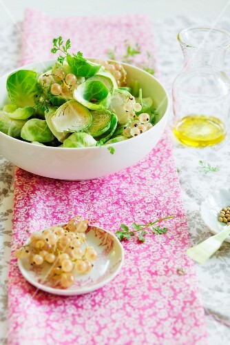 Brussels sprout salad with whitecurrants