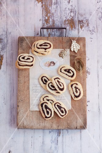 Pastry whirls with dried plum sauce (Austria)