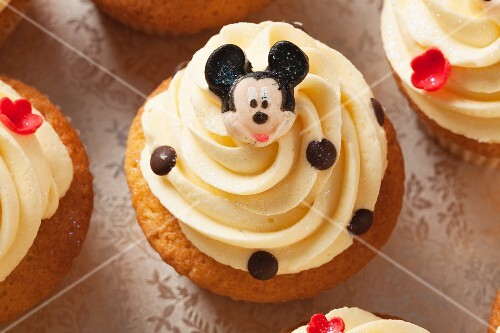 A Mickey Mouse cupcake