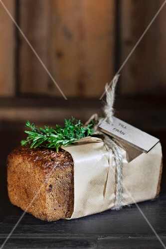 Homemade herb bread as a gift