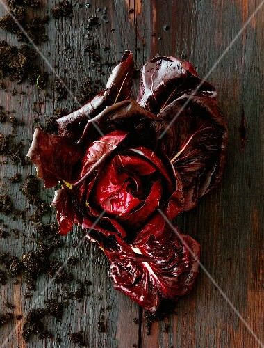 Radicchio on a wooden surface