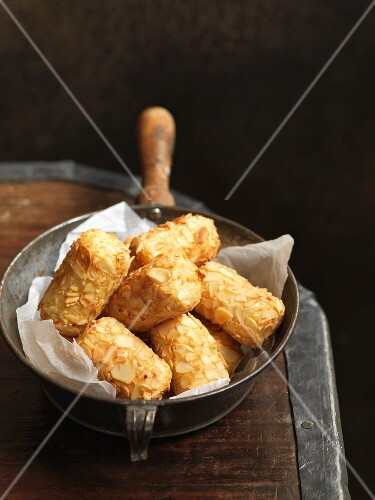 Croquette with flaked almonds