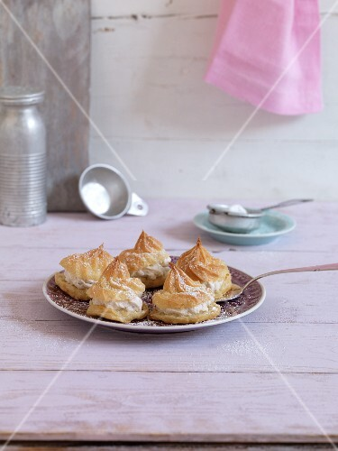 Profiteroles with vegan cream