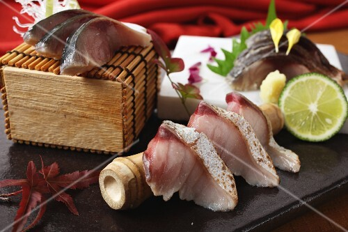 Sashimi with grilled yellow tail (Japan)