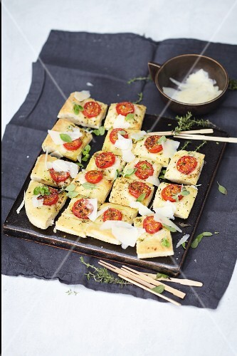 Focaccia with cherry tomatoes