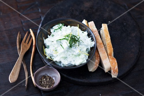 Cucumber and yogurt dip